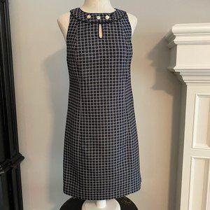 Ann Taylor Navy & Silver sleeveless dress 2